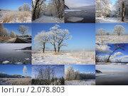 Зимний коллаж. Стоковое фото, фотограф Виктор Зандер / Фотобанк Лори