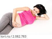 Купить «Беременная женщина», фото № 2082783, снято 21 августа 2010 г. (c) Константин Тавров / Фотобанк Лори