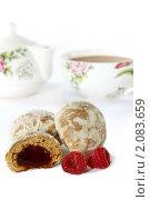 Купить «Пряники с фруктовой начинкой к чаю», фото № 2083659, снято 26 октября 2010 г. (c) Татьяна Белова / Фотобанк Лори