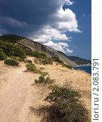 Горная тропа у обрыва  в море. Стоковое фото, фотограф Назвин Алексей / Фотобанк Лори