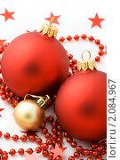 Купить «Елочные шары», фото № 2084967, снято 24 октября 2010 г. (c) Ирина Буракова / Фотобанк Лори