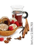 Купить «Чаепитие с пряниками», фото № 2086703, снято 20 октября 2010 г. (c) Татьяна Белова / Фотобанк Лори