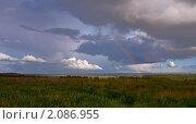 Радуга после грозы. Стоковое фото, фотограф Виктор Березин / Фотобанк Лори