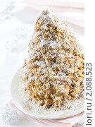 Купить «Торт Муравейник из печенья и сгущенного молока», эксклюзивное фото № 2088523, снято 5 октября 2010 г. (c) Лидия Рыженко / Фотобанк Лори