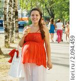 Портрет беременной женщины. Стоковое фото, фотограф Яков Филимонов / Фотобанк Лори