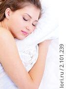 Купить «Спящая девушка», фото № 2101239, снято 21 октября 2009 г. (c) Валуа Виталий / Фотобанк Лори