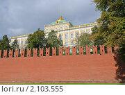 Купить «Москва. Большой Кремлевский дворец. Фрагмент», эксклюзивное фото № 2103555, снято 30 сентября 2010 г. (c) Алёшина Оксана / Фотобанк Лори