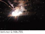 Сварка металлических деталей. Стоковое фото, фотограф Сергей Салдаев / Фотобанк Лори