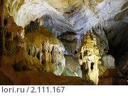 Купить «Крым, пещера Мраморная», фото № 2111167, снято 22 сентября 2010 г. (c) Олег Титов / Фотобанк Лори