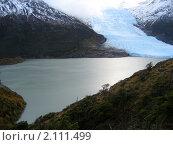 Голубой ледник сползает в воду (2007 год). Стоковое фото, фотограф Зуев Алексей / Фотобанк Лори