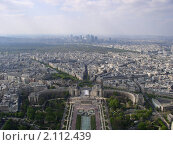 Город Париж. Вид с Эйфелевой башни (2004 год). Стоковое фото, фотограф Алексей Бочков / Фотобанк Лори