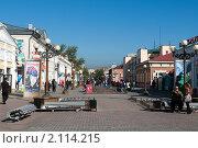 Купить «Центральная пешеходная улица в Улан-Удэ. Республика Бурятия», фото № 2114215, снято 28 сентября 2010 г. (c) Алексей Зарубин / Фотобанк Лори