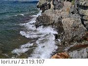 Прибой на озере Тургояк. Стоковое фото, фотограф Николай Решетников / Фотобанк Лори