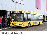 """Купить «Бесплатный автобус до магазина """"Мега""""», фото № 2120131, снято 6 января 2009 г. (c) Art Konovalov / Фотобанк Лори"""