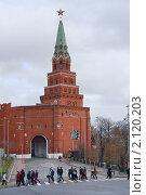 Купить «Тучи над городом. Боровицкая башня», фото № 2120203, снято 6 ноября 2010 г. (c) Валерия Попова / Фотобанк Лори
