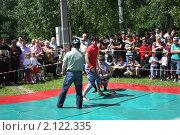 Купить «Бои на сабантуе», фото № 2122335, снято 19 июня 2010 г. (c) Наталья Блинова / Фотобанк Лори