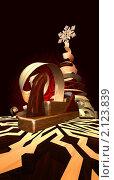 Купить «Старый рубанок с завитками стружки. Снежинки из дерева и стилизованная новогодняя елка из стружки», эксклюзивная иллюстрация № 2123839 (c) Александр Павлов / Фотобанк Лори