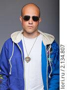Купить «Наглый парень в очках», фото № 2134807, снято 27 мая 2010 г. (c) Podvysotskiy Roman / Фотобанк Лори