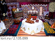 Купить «Интерьер казахской юрты», фото № 2135099, снято 8 октября 2010 г. (c) Камбулина Татьяна / Фотобанк Лори