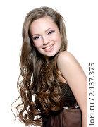 Купить «Портрет красивой молодой девушки», фото № 2137375, снято 1 ноября 2010 г. (c) Валуа Виталий / Фотобанк Лори