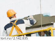 Купить «Штукатурщик», фото № 2142835, снято 4 октября 2010 г. (c) Дмитрий Калиновский / Фотобанк Лори