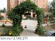 Купить «Балашиха, ухоженный двор», эксклюзивное фото № 2143271, снято 13 августа 2010 г. (c) Дмитрий Неумоин / Фотобанк Лори