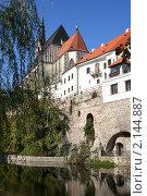 Замок, Крумлов, Чехия (2007 год). Стоковое фото, фотограф Наталия Банникова / Фотобанк Лори