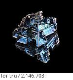 Купить «Синтезированный кристалл висмута», фото № 2146703, снято 17 ноября 2010 г. (c) Частоколенко Борис Леонтьевич / Фотобанк Лори