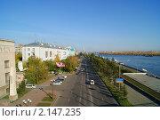 Набережная Красноярска (2010 год). Редакционное фото, фотограф Андрей Чугуй / Фотобанк Лори
