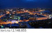 Купить «Панорама вечернего Екатеринбурга. Вид с высоты (со смотровой площадки)», эксклюзивное фото № 2148855, снято 2 марта 2007 г. (c) Светлана Ильева (Иванова) / Фотобанк Лори