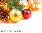 Купить «Новогоднее украшение», фото № 2152207, снято 7 ноября 2010 г. (c) Андрей Рыбачук / Фотобанк Лори