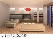 Купить «Интерьер гостиной», иллюстрация № 2152435 (c) Юрий Бельмесов / Фотобанк Лори