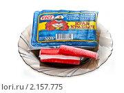 Купить «Крабовые палочки замороженные», фото № 2157775, снято 23 ноября 2010 г. (c) Куликова Вероника / Фотобанк Лори