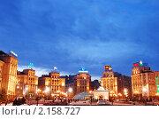Купить «Крещатик.Майдан Незалежности.Киев», фото № 2158727, снято 29 января 2008 г. (c) Николай Голицынский / Фотобанк Лори