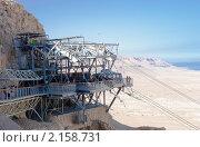 Купить «Израиль. Канатная дорога для подъема на гору Масада», фото № 2158731, снято 13 октября 2010 г. (c) Зобков Георгий / Фотобанк Лори