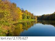 Купить «Москва, Серебряно-виноградный пруд», фото № 2170627, снято 24 октября 2010 г. (c) ИВА Афонская / Фотобанк Лори
