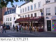 Купить «Маленькое кафе на Монмартре», фото № 2171211, снято 22 августа 2010 г. (c) Макарова Елена / Фотобанк Лори