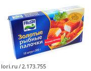 Купить «Рыбные палочки в упаковке», эксклюзивное фото № 2173755, снято 26 ноября 2010 г. (c) Юрий Морозов / Фотобанк Лори