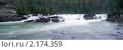 Небольшой водопад на реке. Стоковое фото, фотограф Leksele / Фотобанк Лори