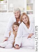 Купить «Девочка с мамой и бабушкой», фото № 2177875, снято 6 ноября 2010 г. (c) Raev Denis / Фотобанк Лори