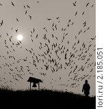 Стая птиц. Стоковое фото, фотограф Galina Zakovorotnaya / Фотобанк Лори