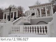 Оренбургская набережная, первый снег (2010 год). Стоковое фото, фотограф Серебрякова Анастасия / Фотобанк Лори