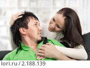 Купить «Счастливая пара», фото № 2188139, снято 13 октября 2010 г. (c) Михаил Лавренов / Фотобанк Лори