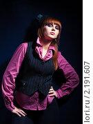 Купить «Портрет красивой девушки в шляпке», фото № 2191607, снято 7 ноября 2010 г. (c) Podvysotskiy Roman / Фотобанк Лори