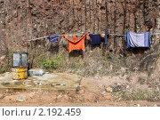 Купить «Одежда сушится», фото № 2192459, снято 7 декабря 2009 г. (c) Валерий Шанин / Фотобанк Лори