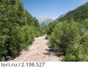 Купить «Река Джамагат. Домбай. Россия», фото № 2198527, снято 28 июля 2010 г. (c) Pukhov K / Фотобанк Лори