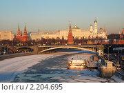 Купить «Вид на Московский Кремль», эксклюзивное фото № 2204695, снято 17 декабря 2009 г. (c) lana1501 / Фотобанк Лори