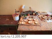 Купить «Гипсовые формы для лепки глиняных игрушек», фото № 2205907, снято 16 июня 2009 г. (c) Сергей Яковлев / Фотобанк Лори