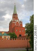 Троицкая башня Московского Кремля (2009 год). Стоковое фото, фотограф Владимир Одегов / Фотобанк Лори