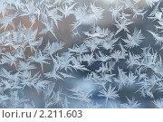 Купить «Морозные узоры на стекле», фото № 2211603, снято 4 февраля 2010 г. (c) Дианова Елена / Фотобанк Лори